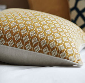 Splendour Cushion - Diamond Amber Cushion