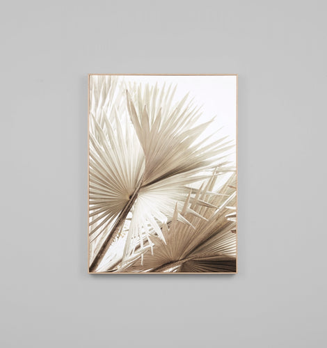 Splendour Canvas Art - Natural Palm 2