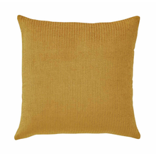 Load image into Gallery viewer, Splendour Cushion - Velvet Ribbed Amber Cushion