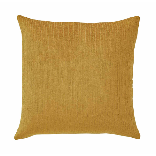 Splendour Cushion - Velvet Ribbed Amber Cushion