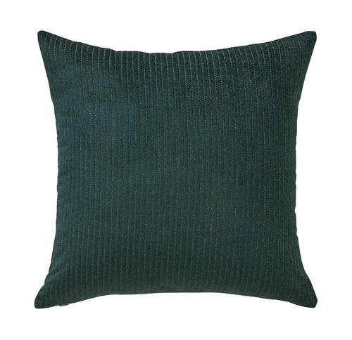 Splendour Cushion - Velvet Ribbed Forest Cushion