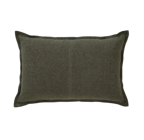 Splendour Cushion - Linen Khaki Rectangle Cushion