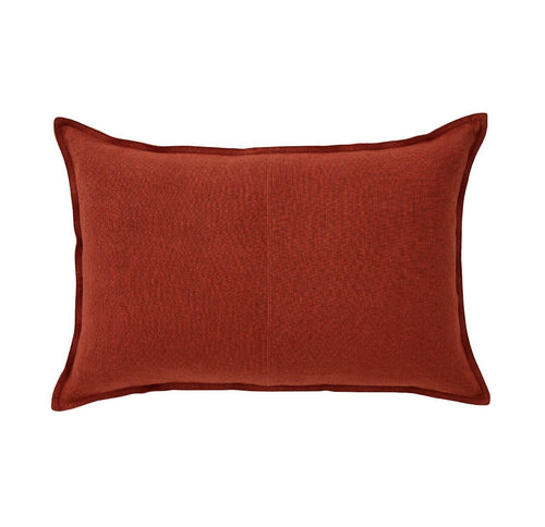 Splendour Cushion - Linen Ruby Rectangle Cushion