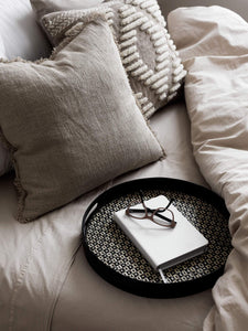 Splendour Cushion - Oatmeal Linen Cushion