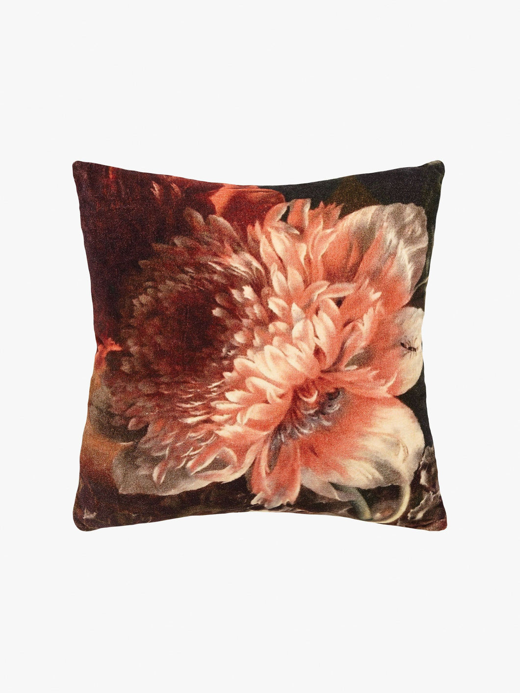 Splendour Cushion - Velvet Autumn Floral Cushion