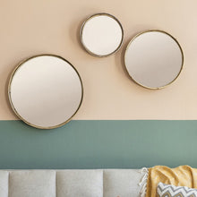 Load image into Gallery viewer, Set of Three Round Mirrors