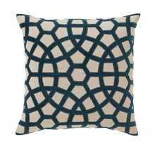 Load image into Gallery viewer, Splendour Cushion - Patterned Teal Cushion