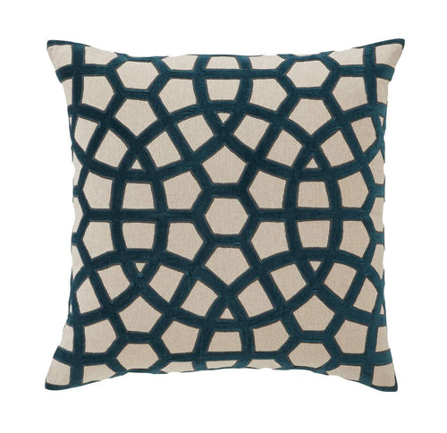 Splendour Cushion - Patterned Teal Cushion