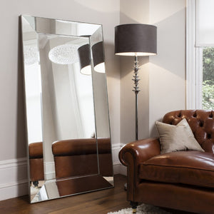 Beveled Framed Floor Mirror