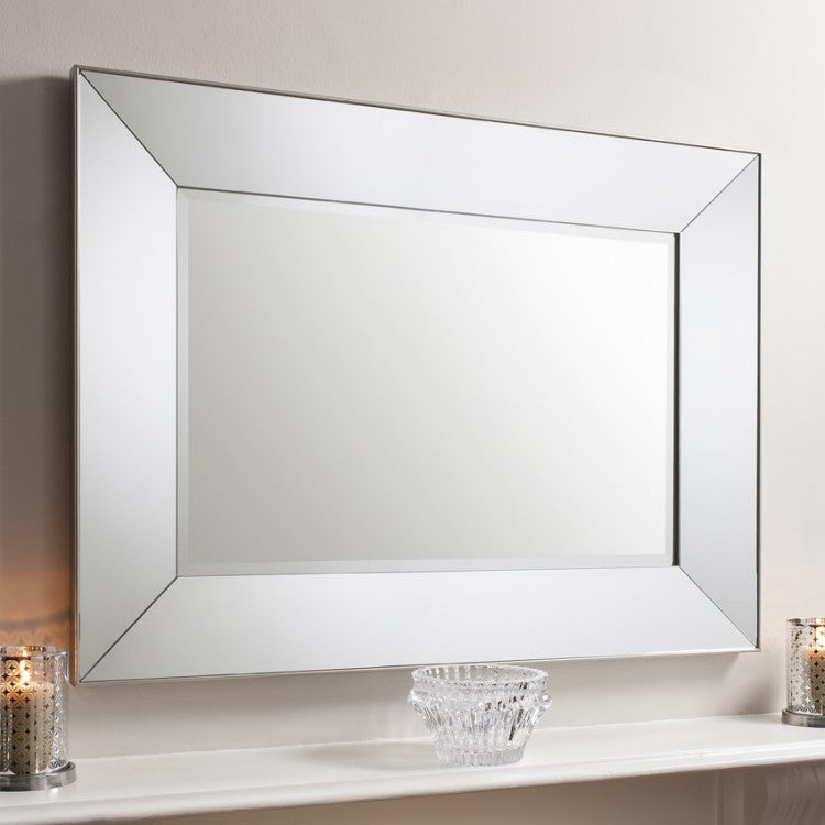 Beveled Framed Rectangle Mirror