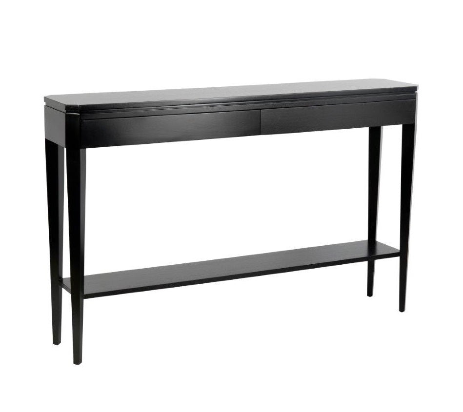 Hamptons Black Small Slimline Hallway Table