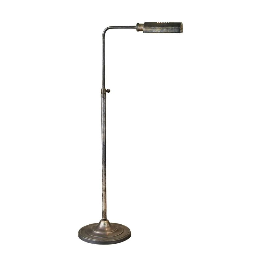 Brooklyn Floor Lamp in Antique Silver