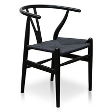 Load image into Gallery viewer, Black Wishbone Dining Chair
