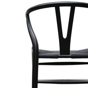 Black Wishbone Dining Chair