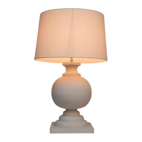 Coach Table Lamp White Base