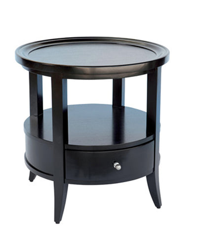 Hamptons Black Round Side Table