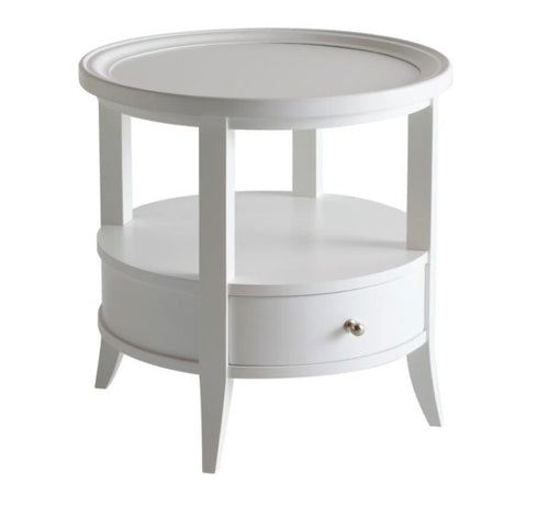 Hamptons White Round Side Table