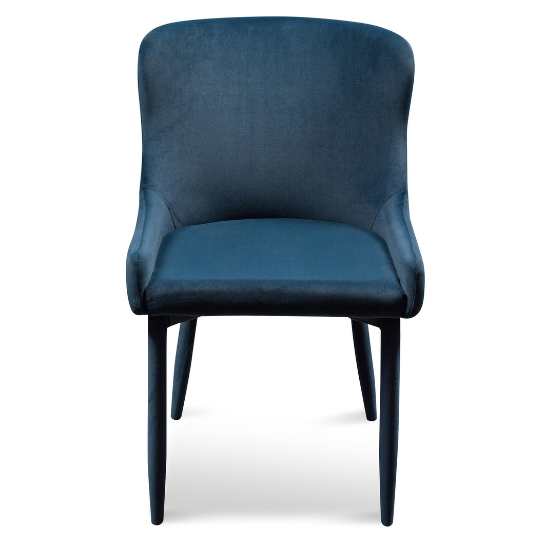 Velvet Navy Dining Chair
