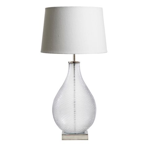 Bellora Table Lamp Glass Base