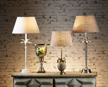 Load image into Gallery viewer, Casablanca Table Lamp with Antique Silver Base