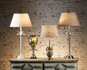 Casablanca Table Lamp with Antique Silver Base