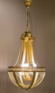Doma Hanging Lamp in Brass