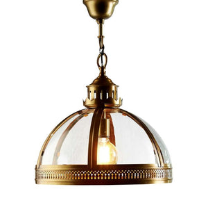 Winston Hanging Pendant in Brass