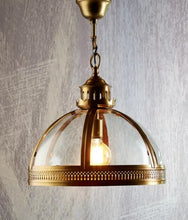 Load image into Gallery viewer, Winston Hanging Pendant in Brass