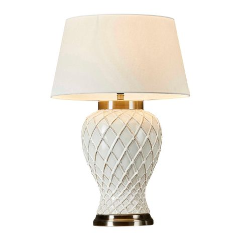Berkley Table Lamp with Ivory Base