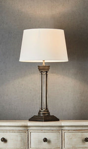 Hudson Table Lamp with Antique Silver Base