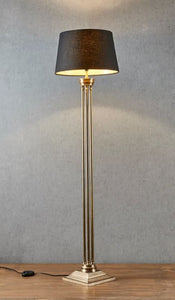 Hudson Floor Lamp in Brass