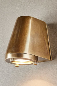 Seaman Outdoor Wall Lamp in Antique Brass