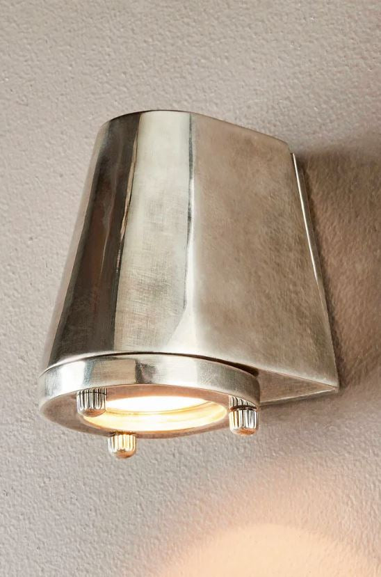 Seaman Outdoor Wall Lamp in Antique Silver