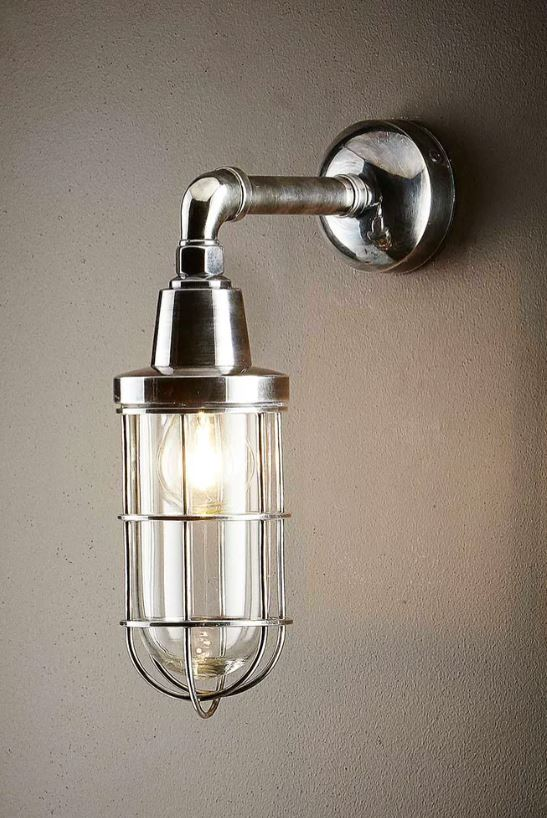 Starboard Wall Lantern in Antique Silver