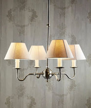 Load image into Gallery viewer, Milton Chandelier with 4 Arms in Antique Silver