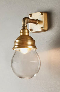 Dover Outdoor Wall Lamp in Antique Brass