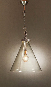Gadsden Medium Glass Hanging Lamp in Silver