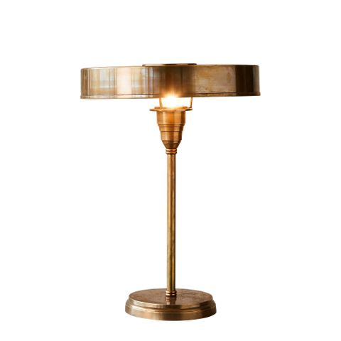 Art Deco Large Table Lamp in Antique Brass