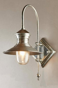 St James Wall Lamp in Antique Silver