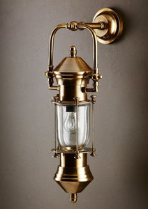 Lisbon Wall Lantern in Antique Brass