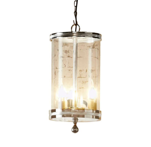 Carnaby Glass Pendant Light in Nickel