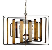 Load image into Gallery viewer, Bronte Spiral Ceiling Light in Brass