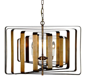 Bronte Spiral Ceiling Light in Brass
