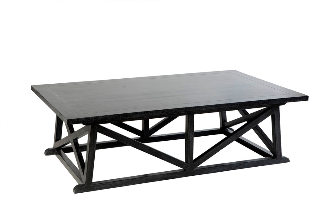 Hamptons Black Rectangle Coffee Table