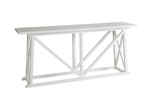 Hamptons White Cross Hallway Table