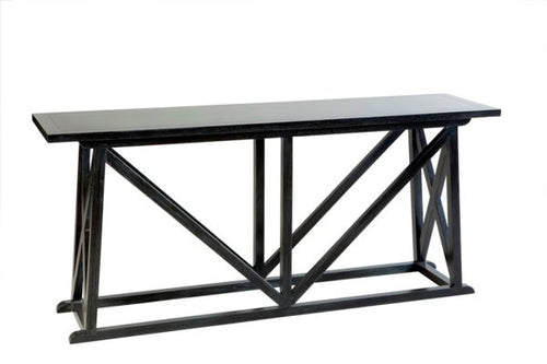 Hamptons Black Cross Hallway Table