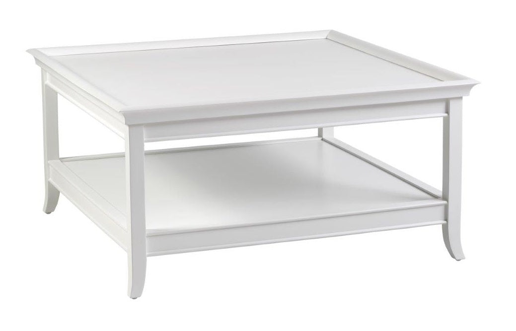 Hamptons White Square Coffee Table