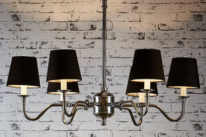 Prescot 6 Arm Chandelier in Antique Silver