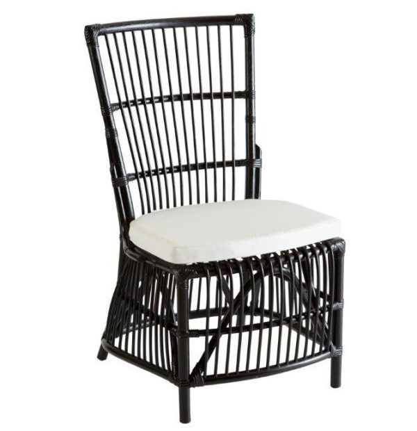 Hamptons Black Cane Dining Chair