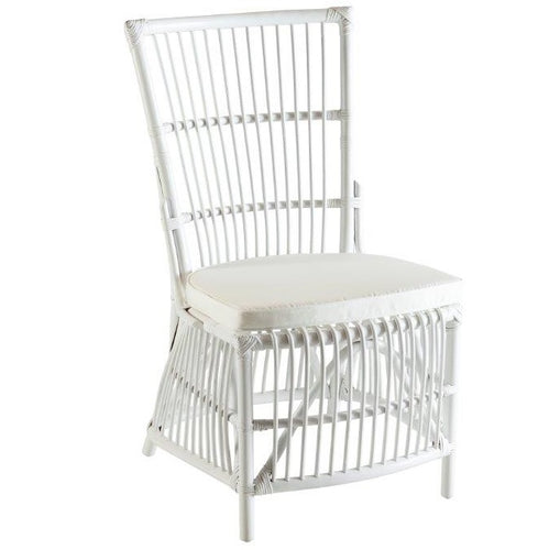Hamptons White Cane Dining Chair
